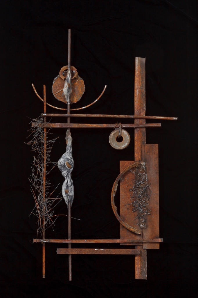 #sculpture #assemblagemixedmedia #foundmetal #steel